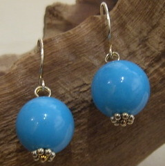 Beautiful White or Blue Turquoise single-drops.